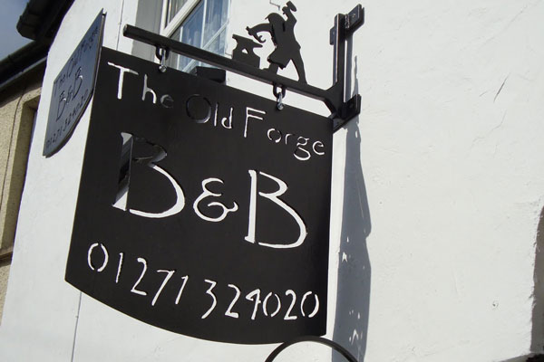 B&B Sign at The Old Forge