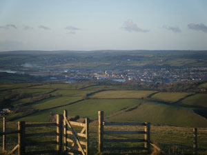 Barnstaple seen from Codden Hill