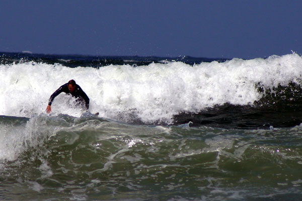 Surfing at Woolacombe